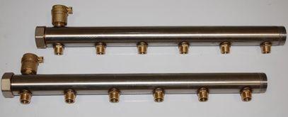 Изготовление коллекторов. Распределительный коллектор для систем холодного и горячего теплоснабжения. Промышленное исполнение.